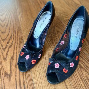 BCBGirls floral heels